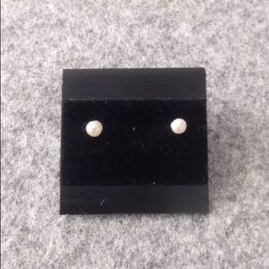 Pamela Love seed pearl stud earrings jewelry bona